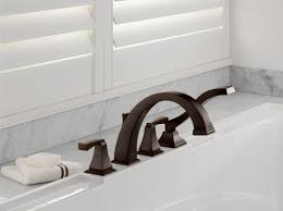 Roman Tub Faucet Bronze Faucet Com T4751 Cz In Champagne Bronze By Delta