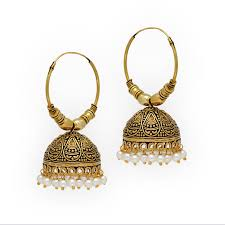 kerala style earrings buy jaipur oxidised black metal gold plated bali jumki style
