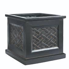 home decorators collection lattice 18 in square aged charcoal