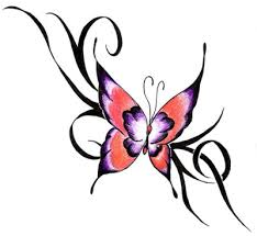 3d butterfly hip tattoo design for women photo 1 real photo