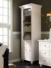 White Linen Cabinets For Bathroom Attractive Bathroom Tower Cabinets Bathroom Design Ideas