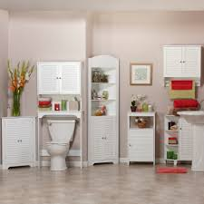 Walmart Bathroom Medicine Cabinet by Riverridge Home Ellsworth Floor Cabinet With Side Shelves White