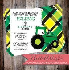 farm themed 1st birthday invitations farm tractor themed