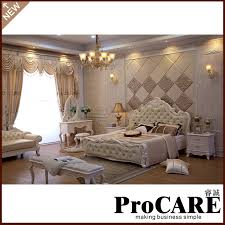 Light Wood Bedroom Sets Classical Light Colour Bedroom Furniture Luxury Bedroom Sets 5pcs