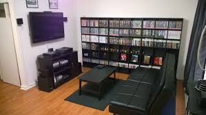 Diy Gaming Desk by My Gaming Living Room 1 7 15 Game Rooms Room And Men Cave