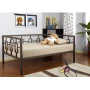 Daybed With Headboard by Twin Size Brown Metal Day Bed Frame With Black Pop Up High Riser