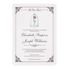 wedding card beauty and the beast enchanted wedding card zazzle