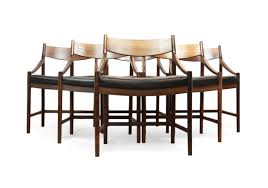 of 8 dining chairs in rosewood by mcintosh