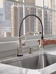 a kitchen faucet that works hard and looks good doing it