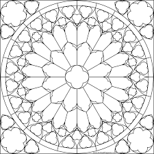 coloring pages free fleur stained glass coloring pages printable