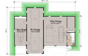 rv garage floor plans