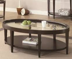 Oval Wood Coffee Tables Oval Coffee Table With Storage Foter