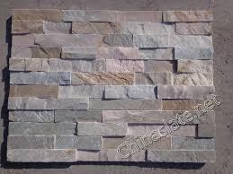 p014 light beige white grey pink cultured stone slate ledge wall