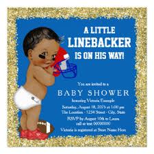 football baby shower football baby shower invitations announcements zazzle