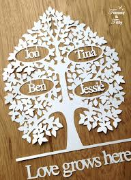family tree bundle svg pdf 3 21 names papercutting template to