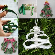 wonderful diy zipper tree ornaments