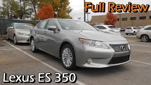 lexus full size sedan review 2015 lexus es 350 full review youtube