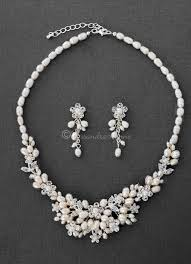 pearl crystal wedding necklace images Crystal flowers and pearls wedding jewelry set cassandra lynne jpg
