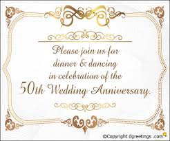 50th anniversary invitation wording 50th wedding anniversary