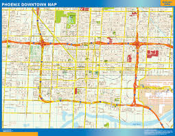 Phoenix Map by World Wall Maps Store Phoenix Downtown Map More Than 10 000