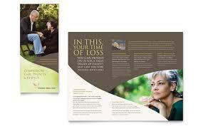 memorial u0026 funeral program brochure template word u0026 publisher
