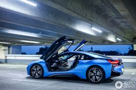 bmw supercar blue driven bmw i8