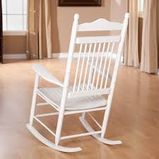 Wooden Rocking Chair Dimensions Amazon Com High Back Slat Seat Rocker White Kitchen U0026 Dining
