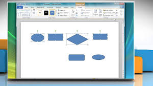 how to create a flow chart in microsoft word 2010 youtube
