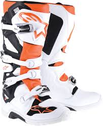 Alpinestars Tech 7 Enduro Off Road Mx Motocross Boots White Orange