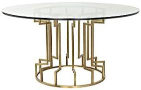 metal top round dining table 60 round dining table glass top solid metal base gold finish
