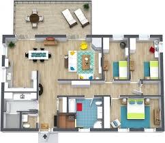 Beach Houses Floor Plans Fascinating Home Design 2 Bedroom Beach House Plans 3d 3 For Plan