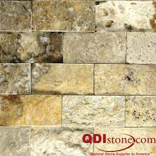 Split Face Stone Backsplash by Fantastico Travertine Split Face Tile Qdisurfaces