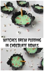 witches brew pudding in chocolate bowls val event gal