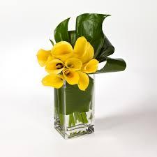 yellow calla sophisticate a unique arrangement of yellow calla lilies
