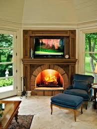 modern nice design fireplace decor ideas warm mantle wooden table