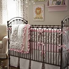Leopard Crib Bedding Carousel Designs Pink And Taupe Leopard Three