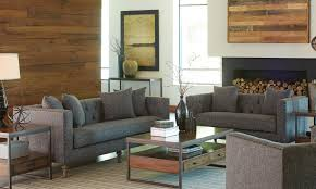 red living room sets collections sears 1perfectchoice ellery grey tweed like menswear 2 pcs sofa and loveseat