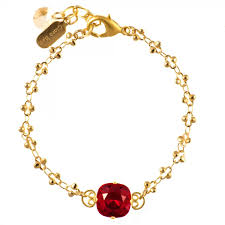 red stone bracelet images Clara beau sweet single stone ruby red crystal bracelet in gold jpg