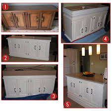 Add Trim To Kitchen Cabinets by Steps To Making Your Own Kitchen Island 1 Find An Old Buffet