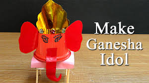 ganesh puja craft idea make ganesh idol from paper cup for