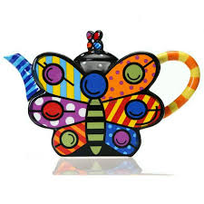 shaped teapot butterfly shaped colored drawing porcelain teapot umiteasets