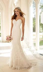 stella york fit and flare strapless wedding dress style 6220 750