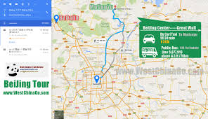 Map Of Beijing China by Great Wall Of China Tour Travel Guide