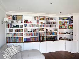 white kids bookcase built in bookshelves bespoke bookcases london furniture artist