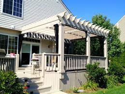 Pergola Canopy Ideas by Decor White Wooden Railing For Modern Home Decoration With Pergola