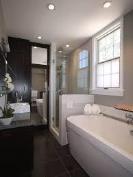 narrow bathroom with shower stylish truly masculine bathroom