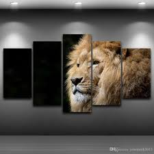 2017 lion head framed wall art picture artistic printed drawing on