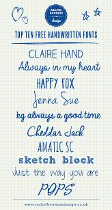 my top ten free handwritten fonts u2013 rachel bonness design