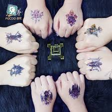 2different styles rocooart waterproof temporary tattoo stickers