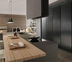 cuisine moderne et noir stunning cuisine noir mat et bois contemporary design trends